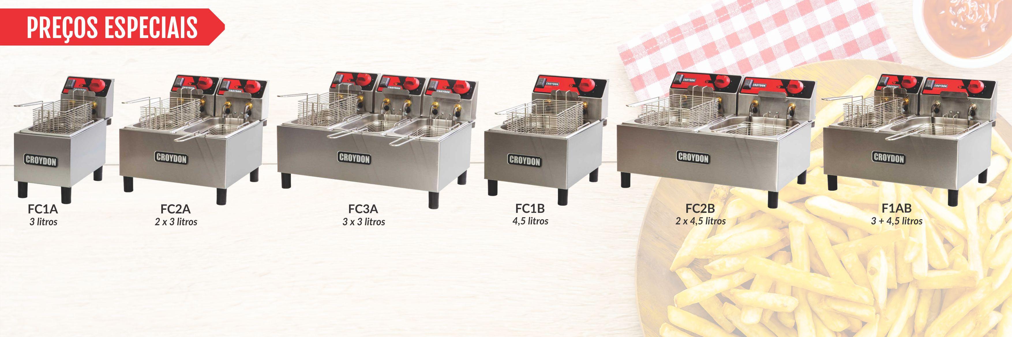 <p>Consulte esses PREÇOS ESPECIAIS em toda linha de Fritadeiras FC,</p> <p>com nossos Distribuidores.</p>